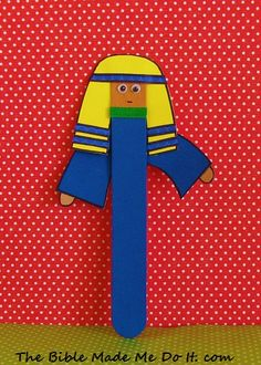 This is a quick and easy craft. Just add arms and a head-dress to the craft stick---and it becomes a puppet! thebiblemademedoit.com