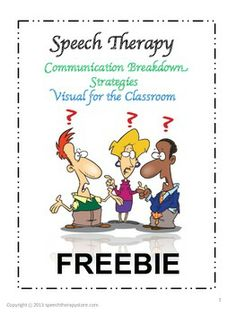 Communication Breakdown Strategies Visual This is a visual of 6 different strategies that can be used with students who are difficult to understan. Speech Language Therapy, Speech Language Pathology, Speech And Language, Speech Therapy Activities, Language Activities, Articulation Activities, School Forms, Classroom Freebies, Speech Room