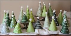 Pattern Paper Christmas Tree; Cute to create over the mantle with a bunch in different sizes