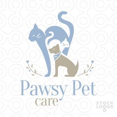 Exclusive Customizable Logo For Sale: Pawsy Pet Care | StockLogos.com