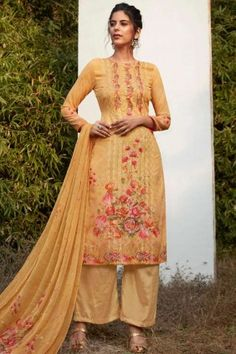 Pakistani Dresses - Occur #yellow Georgette #Palazzo Suits - Pakistani Clothes & Suits Online #UK - #Shopkund Pakistani Dresses Online, Pakistani Outfits, Georgette Fabric, Chiffon Fabric, Dress Meaning, Palazzo Suit, Pakistani Salwar Kameez, Yellow Fabric, Types Of Dresses
