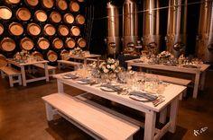 January Tasting Dinner. Table Rentals from Rustic Urban Events.  http://www.wienscellars.com/temecula-wedding/