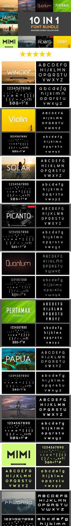 10 In 1 Font Bundle Download here: https://graphicriver.net/item/10-in-1-font-bundle/19444126?ref=KlitVogli