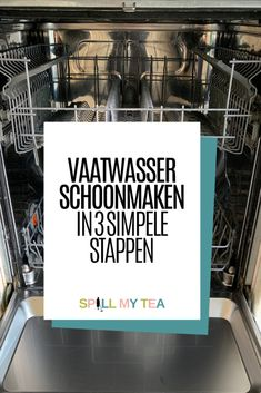 De vaatwasser schoonmaken in 3 simpele stappen Invisible Stitch, Household Cleaners, Clothing Hacks, Home Hacks, Getting Organized, Clean House, Housekeeping, Good To Know, Baking Soda
