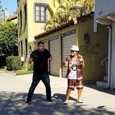 Bruno Mars and James Corden