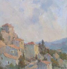 Hillside de Provence by Nancy Franke Oil ~ 20 x 20