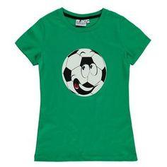 Kinder Sport T-Shirt mit Fußball-Motiv #awgmode #jungenmode #kindermode #fußball #sport #grinariosports