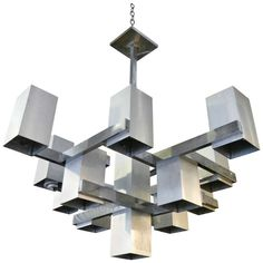 Mid century modern industrial lighting chandeliers and lamps mid century modern gaetano sciolari inspired multi light chandelier aloadofball Gallery