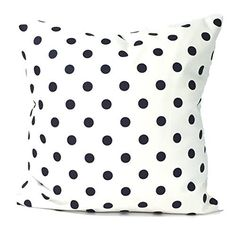 """Navy Blue Polka Dots and White Pillow Cover. large bed Throw Pillow. Toss Pillows. square Cushion. Polka Dots. Bed dorm. Pillow Cover. Euro Pillow. Pillow Sham 26"""" x 26"""""""