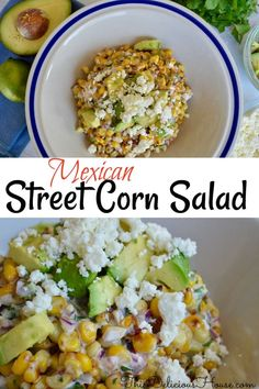 Easy and creamy Mexican Street Corn Salad is the perfect side dish or salad topper. #mexicanstreetcorn #cornsalad Corn Salad Recipes, Corn Salads, Healthy Salad Recipes, Hamburger Side Dishes, Side Dishes With Hamburgers, Grilling Recipes, Cooking Recipes, Cooking Ideas, Food Ideas