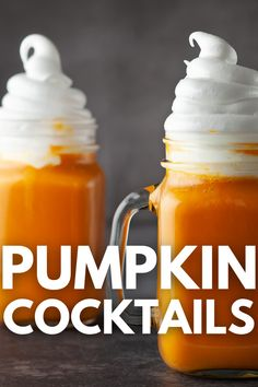Sip on one or more of these Stellar Pumpkin Cocktails. Whether you want one for a mid-week pick me up or entertaining guests. This pumpkin cocktail list will be sure to please. #cocktail #pumpkin #drink #fall #spice #adult #best Pumpkin Cocktail, Pumpkin Drinks, Pumpkin Recipes, Fall Recipes, Frozen Drink Recipes, Sangria Recipes, Punch Recipes, Dessert Recipes, Desserts In A Glass