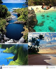 The Best Beaches in Hawaii  * Seven Sacred Pools - Maui, Hawaii  * Fun at Waimea Bay, Hawaii - Travel Pinspiration: http://www.ytravelblog.com/travel-pinspiration-top-5-beaches-on-pinterest/  * Ka'anapali Beach, Maui, Hawaii  * Molokai, Mist Over the Mountains, Hawaii...