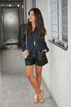 Mis nuevos shorts de cuero de Zara