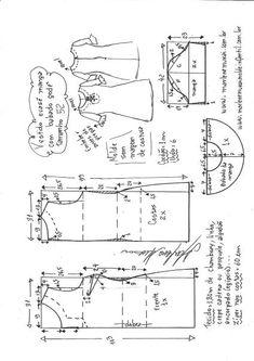 Vestido manga com babado peplum | DIY - molde, corte e costura - Marlene Mukai
