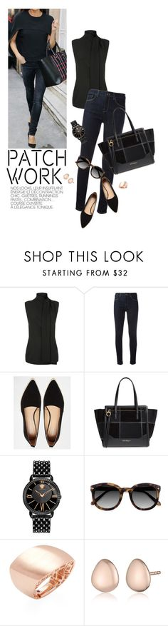 """PatchWork"" by reginakos ❤ liked on Polyvore featuring Victoria Beckham, Armani Jeans, Park Lane, Salvatore Ferragamo, Versace, Roberto Coin, Monica Vinader, WorkWear, SimpleOutfits and patchwork"