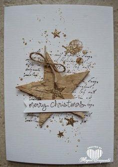 Magical Scrapworld: Merry Christmas houten ster