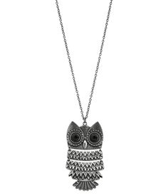Owl Long-Strand Necklace from Aeropostale