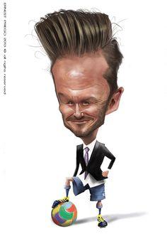 David Beckham, illustration of Ernesto Priego