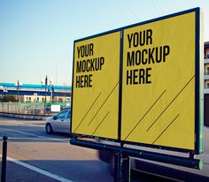 Free Advertising MockUp by Engjell Gjepali, via Behance Are you still relevant campaign