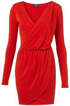Moss Crepe Drape Dress - StyleSays