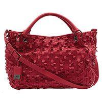 Bolsa couro hibisco - vermelha