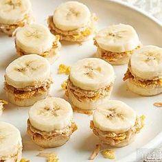 Crunchy Peanut Butter-Coconut Banana Bites - fun healthy snack!