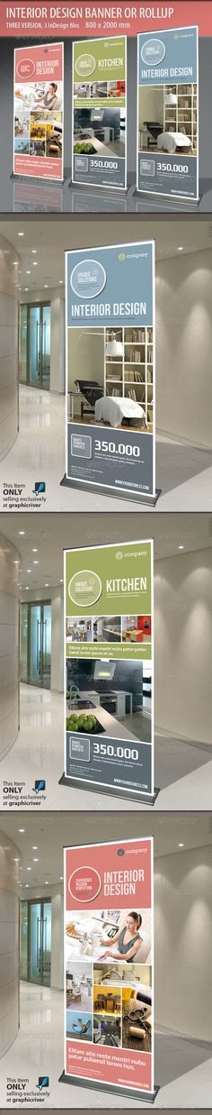 Banner or Rollup Interior Design - Signage Print Templates