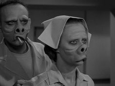 The Twilight Zone; 1960  Eye of the Beholder - CLASSIC!   Just watched this episode the other night.