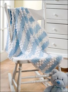 Lullaby Luvie Baby Blanket free crochet pattern
