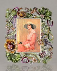 """Jay Strongwater """"Palm & Floral"""" Frame - Neiman Marcus"""