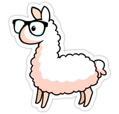 """""""Hipster Llama"""" Stickers by YamPuff 