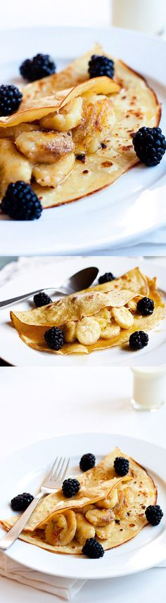 Breakfast for dad - Banana Crepes – simple and delicious recipe for the best, sweet and fluffy banana crepe recipe ever | rasamalaysia.com