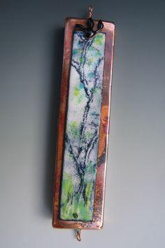 Tree of Life Mezuzah, copper and enamel, by Ruth Shapiro. www.growingupjewish.com