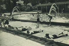 Miejski basen z pawilonem użytkowym w Ogrodzie Saskim. Proj. Romuald Gutt, bud. 1933.