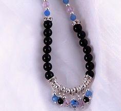 Protection Jewelry Lucky Necklace Fringe  Onyx & by BelovedsBeads, $70.00