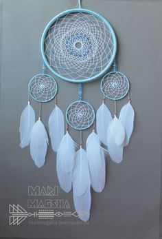 """Dreamcatcher """"Snow patterns"""" – shop online on Livemaster with shipping - Old Wine Bottles, Recycled Wine Bottles, Wine Bottle Crafts, Clay Pot Crafts, Shell Crafts, Diy And Crafts, Dream Catcher Decor, Dream Catcher White, Dream Catcher Patterns"""