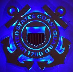 https://www.etsy.com/listing/494108986/united-states-coast-guard-logo?ref=shop_home_active_31 United States Coast Guard Anchor Lighted Wall Decor #CoastGuard #Wall Decor Lighted #handmade
