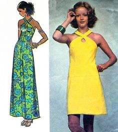 1970s Dress Pattern Simplicity 5014 Halter Neck by paneenjerez, $16.00