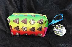 NWT Poop Monkey Emoji Zipper Pouch Clutch Cosmetic Bag Coin Purse School #emoji