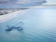 99. THE ROLLER COASTER  SUBMERGED BY SANDY     by Stephen Wilkes