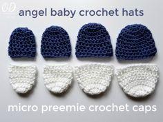 Angel Baby Crochet Hats and Micro Preemie Crochet Caps