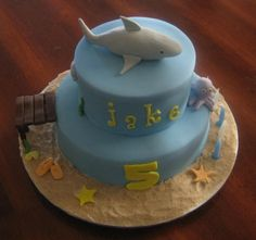 IF WE COULD MAKE A LITTLE FONDANT SHARK LIKE THE  FOR OUR CUPCAKES