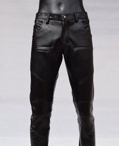 #Mens #Slim #Pocket #Design #Black #Leather #Pencil #Jeans #Motorcycle #Pants Mens Leather Pants, Motorcycle Pants, Slim Man, Black Leather, Pencil, Pocket, Shorts, Jeans, Design