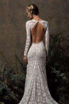 Get ready to WOW your guests in this backless wedding gown. See why this lace wedding dress with lace sleeves is a favorite amongst our brides. Wedding Dress Styles, Bridal Dresses, Dresses Uk, Dresses Ireland, Ceremony Dresses, Skater Dresses, Bridesmaid Dresses, Lace Bridal, Backless Lace Wedding Dress