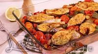 Baked fish with Vegetables Baked Fish, Ratatouille, Food Videos, Carne, Baking Recipes, Potato Salad, Cauliflower, Tasty, Favorite Recipes