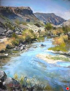 Watching The River Run by Margi Lucena Pastel ~ 14 x 11