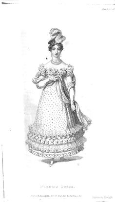 Evening Dress from Ackermann's Repository of the Arts July 1819