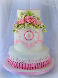 Sweet 16 Birthday Cake - Cake by Marlene - CakeHeaven Cupcakes, Cupcake Cakes, Unique Cakes, Creative Cakes, Gorgeous Cakes, Amazing Cakes, Sweet Sixteen, Sweet 16 Birthday Cake, Birthday Cakes