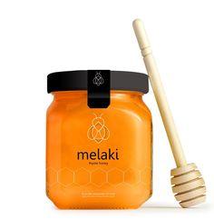 branding and packaging design for thyme honey on Behance