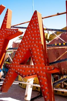 Atomic era letter A at rest in the Neon Museum, LA. via idsgn.org on flickr Do you believe this place? KB